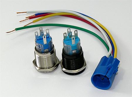 Schalter 12 Volt Mit Beleuchtung | Rastender Taster 22mm Grune 12v Led Beleuchtung Schalter